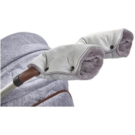 rukavice na kočár Mazlík sv.šedá/šedá