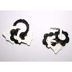 ProfiBaby řetěz/zábrana tvary černobílé plast 6cm 15ks v krabičce 12,5x16cm 0m+