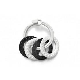 ProfiBaby kroužky se 4 tvary plast černobílé 2 druhy v sáčku 0m+