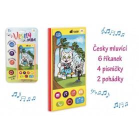Teddies Veselý Mobil Telefon plast česky mluvící 7,5x15cm na baterie se zvukem na kartě