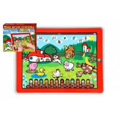Teddies Tablet farma pro nejmenší Moje první zvířátka 24x19x1,5cm na bat. se světlem a zvukem v krabičce MPZ