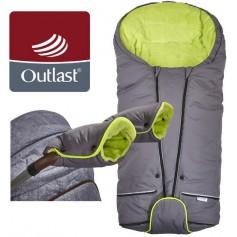 set svítící Fusak Exclusive Outlast a rukavice šedá/limetková