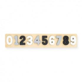 Jollein Dřevěné číselné puzzle grey/white