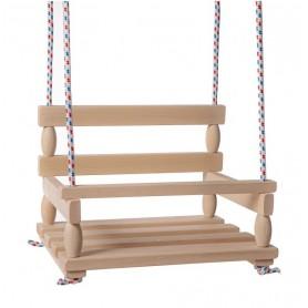 Teddies Houpačka dřevo přírodní 38x30cm nosnost 80kg v sáčku