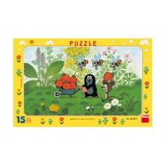 DINO Puzzle deskové Krtek na výletě 29,5x19cm 15 dílků