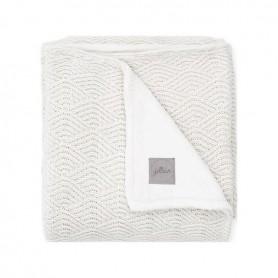 Jollein deka River Knit 75 x 100 cm CREAM WHITE/CORAL