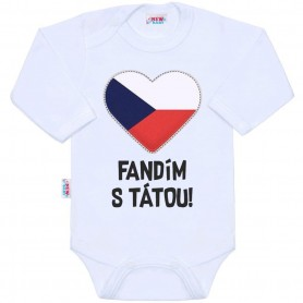 New Baby body s potiskem FANDÍM S TÁTOU