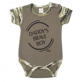 New Baby Kojenecké body s krátkým rukávem ARMY BOY