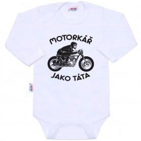 New Baby body s potiskem MOTORKÁŘ JAKO TÁTA