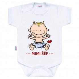New Baby Kojenecké body s krátkým rukávem MIMI ŠÉF