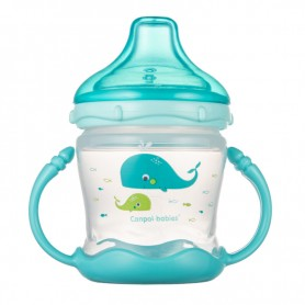 Canpol babies Nevylévací hrníček se silikonovám pítkem a úchyty Sweet fun