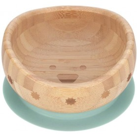 Bowl Bamboo Wood Little Chums dog
