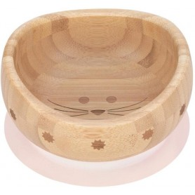 Bowl Bamboo Wood Little Chums mouse