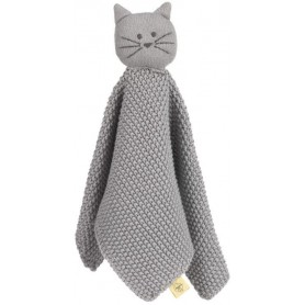 Knitted Baby Comforter Little Chums cat