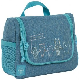 Mini Washbag About Friends mélange blue