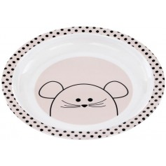 Plate with Silicone Little Chums mouse