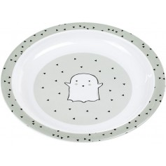 Plate with Silicone Little Spookies olive