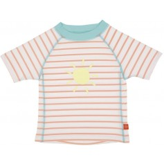 Rashguard Short Sleeve Girls sailor peach 12 mo.