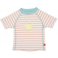 Rashguard Short Sleeve Girls sailor peach 12 mo.