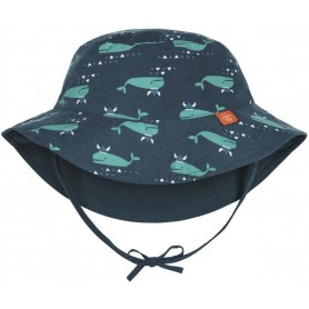 Sun Protection Bucket Hat blue whale 18-36 mo.
