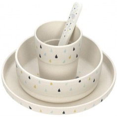 Dish Set Bamboo Little Water Whale