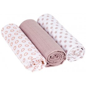 Swaddle blanket 85x85 Little Chums Star light pink