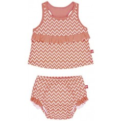 Tankini Girls 2016 zigzag peach L