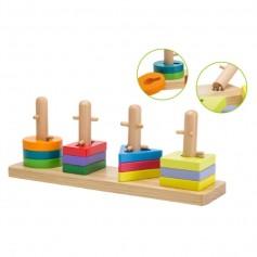 Jouéco dřevěná skládačka Puzzle 12m+
