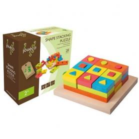 Jouéco dřevěná skládačka puzzle 28ks 24m+