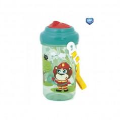 Canpol babies Cestovní láhev s víčkem a slámkou SPACE MISSION