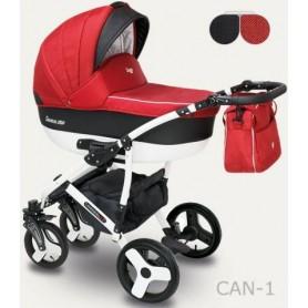 Camarelo Carera New kombinovaný kočárek CAN-01 červený