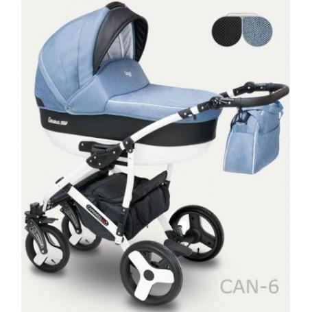Camarelo Carera New kombinovaný kočárek CAN-06 modrý