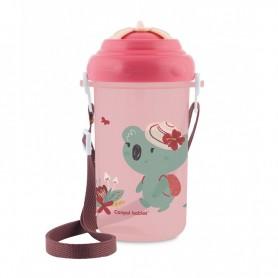 Canpol babies Cestovní sportovní láhev se slámkou a víčkem Koala 400 ml