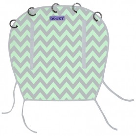 Dooky clona Reversible Mint/Grey Chevron