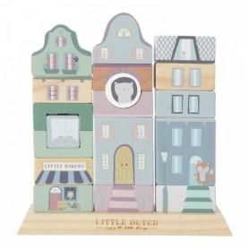 Little Dutch stavebnicové kostky-MODRÁ
