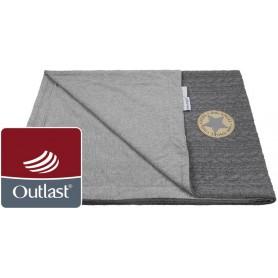 deka dvojitá Copánky tenká Outlast šedá/šedý melír