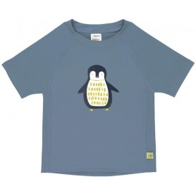 Short Sleeve Rashguard penguin niagara blue 12 mo.