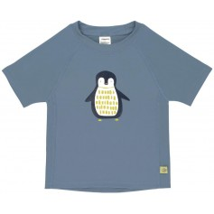 Short Sleeve Rashguard penguin niagara blue 18 mo.