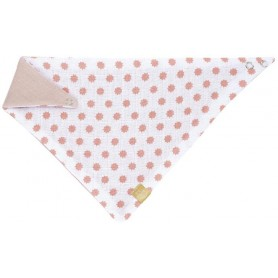 Bandana Muslin Little Chums Stars light pink