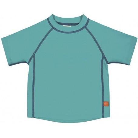 Rashguard Short Sleeve Boys lagoon 12 mo.